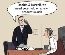Comic - Contact Debbie and Darrell